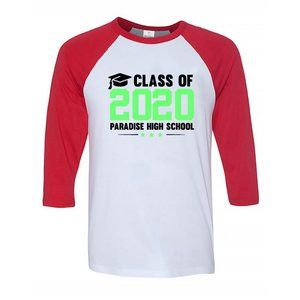 Youth Kids PARADISE HIGH SCHOOL Baseball Tee
